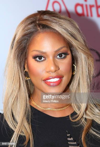 Laverne Cox arrives at the 16th Annual Heroes In The Struggle gala reception and awards presentation at 20th Century Fox on September 16 2017 in Los...