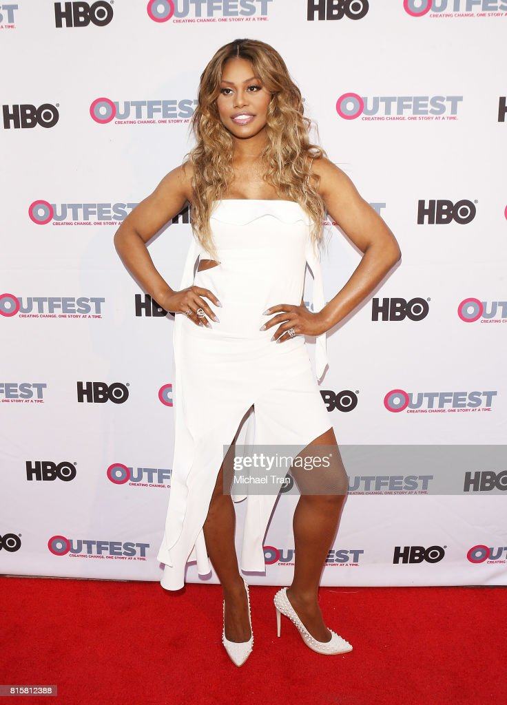 Laverne Cox arrives at the 2017 Outfest Los Angeles LGBT Film Festival - closing night gala screening of 'Freak Show' held at The Theatre at Ace Hotel on July 16, 2017 in Los Angeles, California.