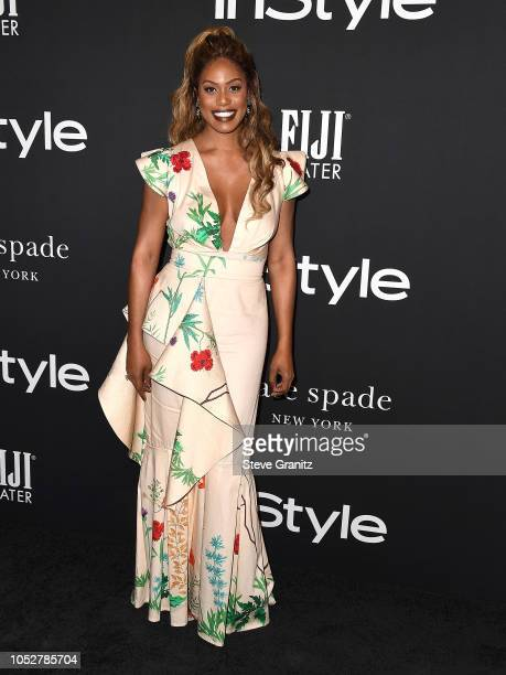 Laverne Cox arrives at the 2018 InStyle Awards at The Getty Center on October 22 2018 in Los Angeles California