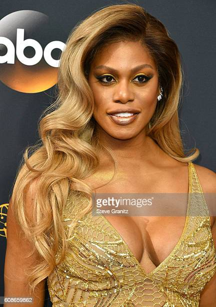 Laverne Cox arrives at the 68th Annual Primetime Emmy Awards at Microsoft Theater on September 18 2016 in Los Angeles California