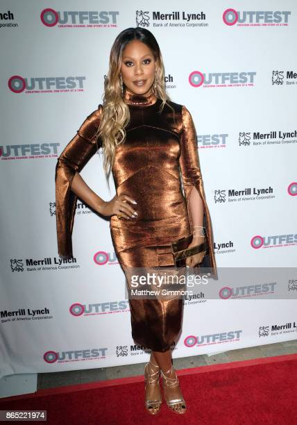 Laverne Cox at the 13th Annual Outfest Legacy Awards at Vibiana on October 22 2017 in Los Angeles California