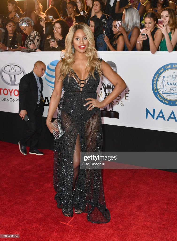 Laverne Cox at the 49th NAACP Image Awards on January 15, 2018 in Pasadena, California.