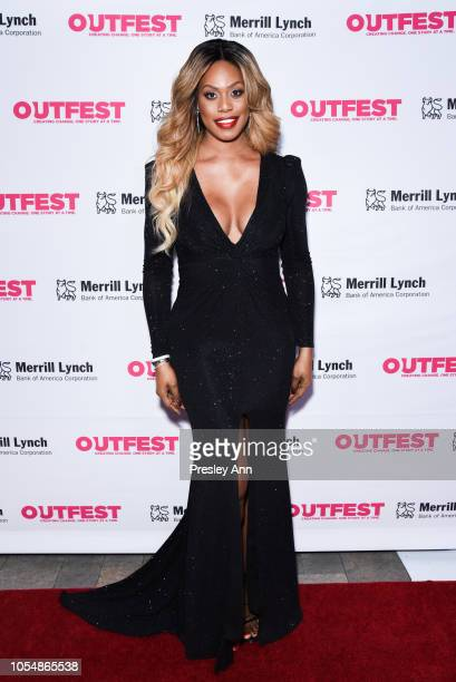 Laverne Cox attends 13th Annual Outfest Legacy Awards at Vibiana on October 28 2018 in Los Angeles California