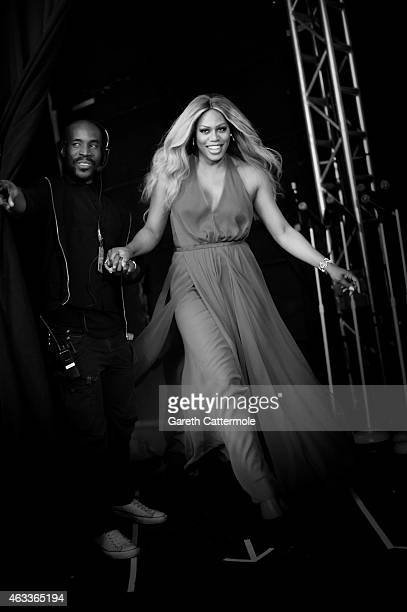 Laverne Cox attends American Heart Association Go Red For Women Red Dress Collection 2015 Presented By Macy's At MercedesBenz Fashion Week at Lincoln...