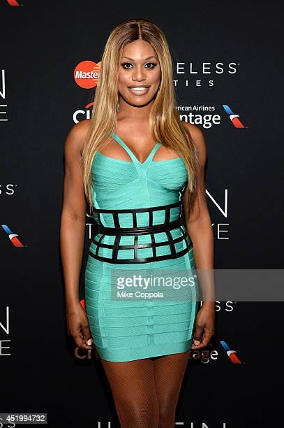 Laverne Cox attends an exclusive NYC performance with Citi / AAdvantage MasterCard Priceless Access at Hammerstein Ballroom on July 10 2014 in New...