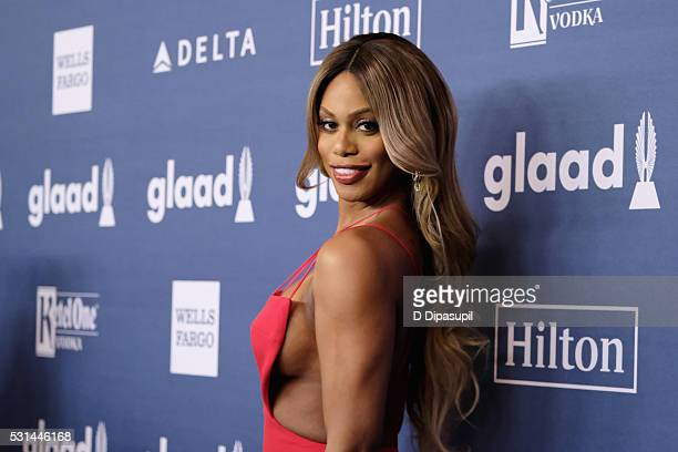 Laverne Cox attends at The 27th Annual GLAAD Media Awards with Hilton at Waldorf Astoria Hotel on May 14 2016 in New York City