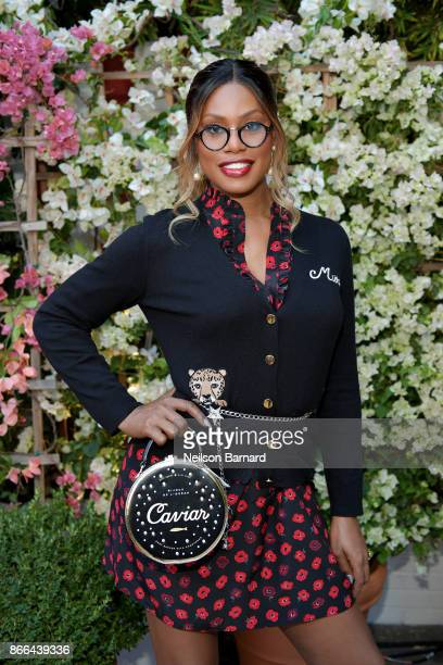Laverne Cox attends CFDA/Vogue Fashion Fund Show and Tea at Chateau Marmont at Chateau Marmont on October 25 2017 in Los Angeles California