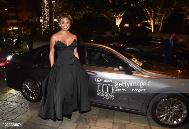 Laverne Cox attends ELLE's 25th Annual Women In Hollywood Celebration presented by L'Oreal Paris Hearts On Fire and CALVIN KLEIN at Four Seasons...