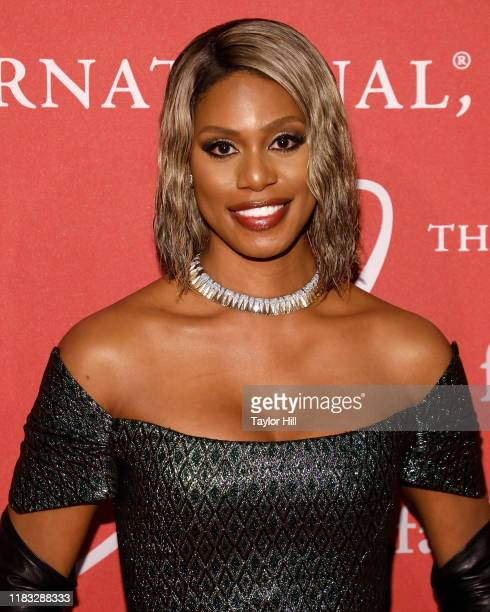 Laverne Cox attends Fashion Group International's 2019 Night of Stars at Cipriani Wall Street on October 24, 2019 in New York City.