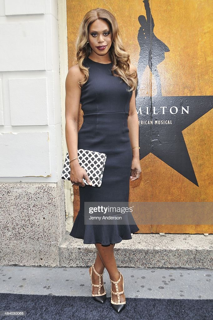 Laverne Cox attends 'Hamilton' Broadway Opening Night at Richard Rodgers Theatre on August 6, 2015 in New York City.