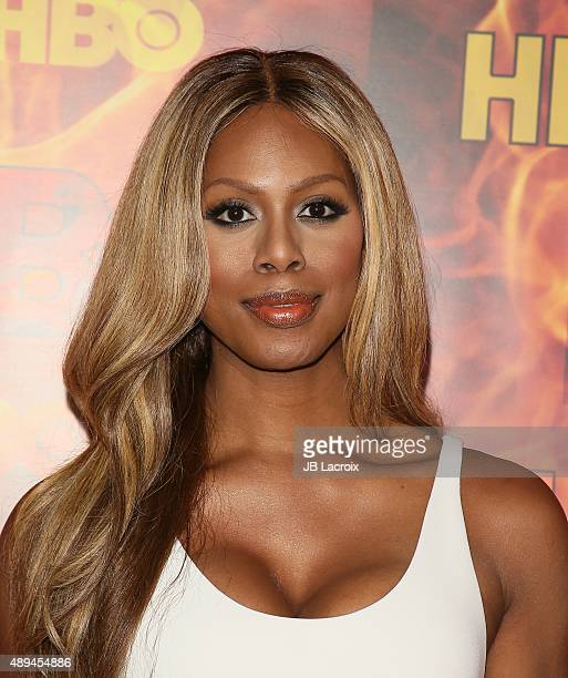 Laverne Cox attends HBO's Official 2015 Emmy After Party at The Plaza at the Pacific Design Center on September 20 2015 in Los Angeles California