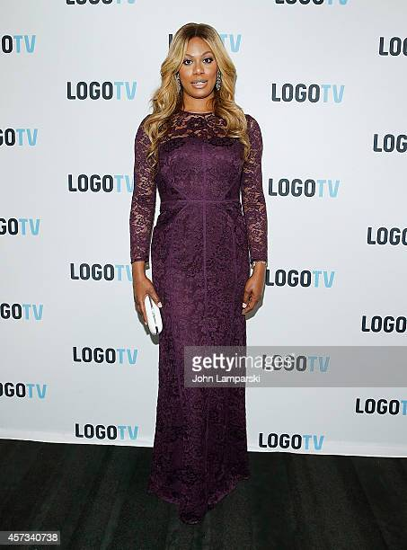 "Laverne Cox attends ""Laverne Cox Presents: The T Word"" Logo TV Premiere Party & Screening at Paramount Screening Room at the Viacom Building on..."
