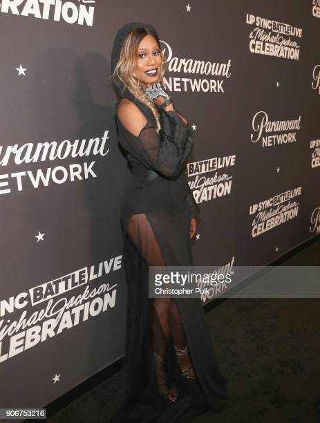 Laverne Cox attends Lip Sync Battle Live A Michael Jackson Celebration at Dolby Theatre on January 18 2018 in Hollywood California