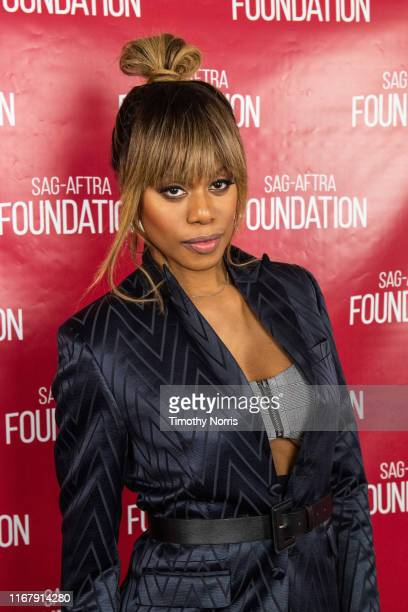 """Laverne Cox attends SAG-AFTRA Foundation Conversations with """"Orange Is The New Black"""" at SAG-AFTRA Foundation Screening Room on August 13, 2019 in..."""