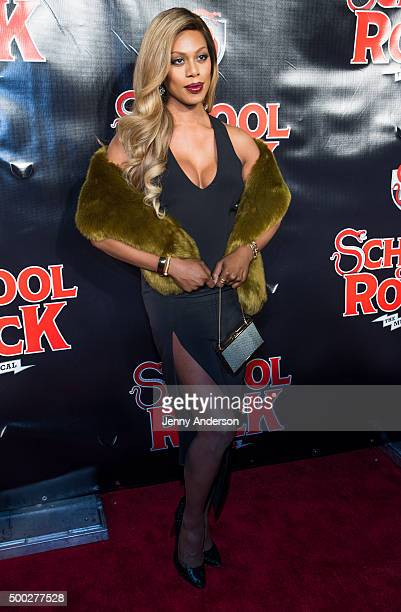 Laverne Cox attends 'School Of Rock' Broadway opening night at Winter Garden Theatre on December 6 2015 in New York City