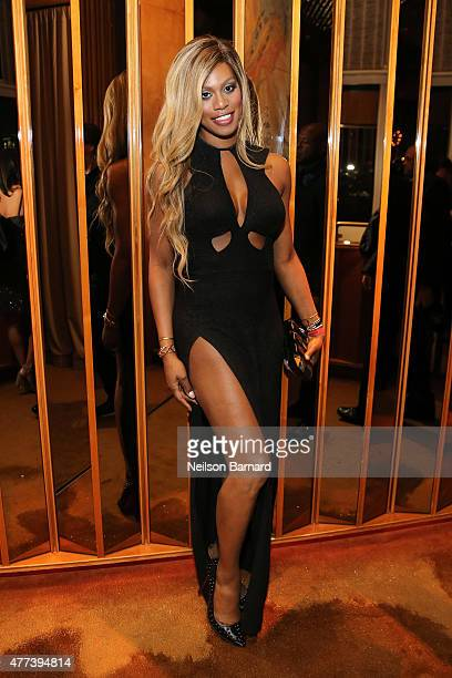 Laverne Cox attends the 2015 amfAR Inspiration Gala New York after party at Boom Boom Room on June 16 2015 in New York City