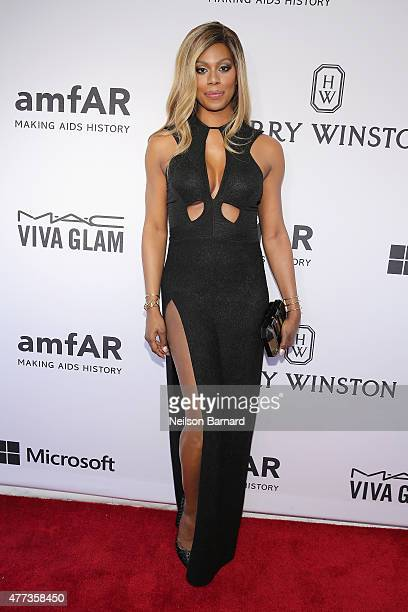 Laverne Cox attends the 2015 amfAR Inspiration Gala New York at Spring Studios on June 16 2015 in New York City