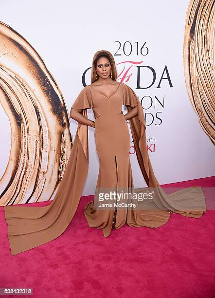 Laverne Cox attends the 2016 CFDA Fashion Awards at the Hammerstein Ballroom on June 6 2016 in New York City