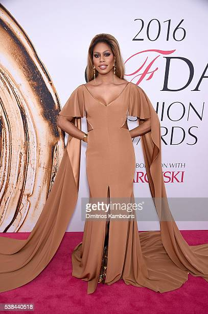 Laverne Cox attends the 2016 CFDA Fashion Awards at the Hammerstein Ballroom on June 6, 2016 in New York City.
