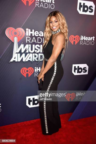 Laverne Cox attends the 2018 iHeartRadio Music Awards which broadcasted live on TBS TNT and truTV at The Forum on March 11 2018 in Inglewood...