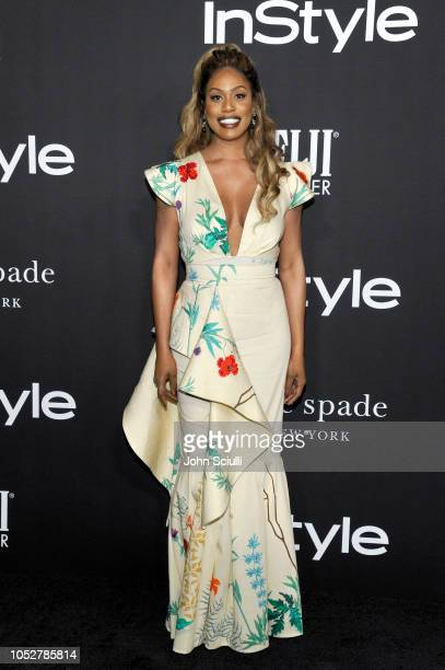 Laverne Cox attends the 2018 InStyle Awards with Fiji Water on October 22 2018 in Los Angeles California