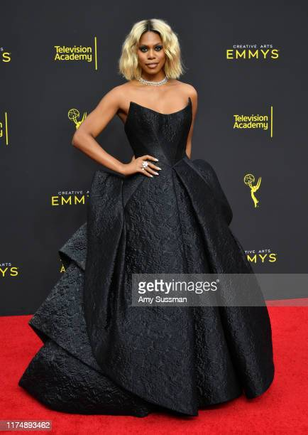 Laverne Cox attends the 2019 Creative Arts Emmy Awards on September 15 2019 in Los Angeles California