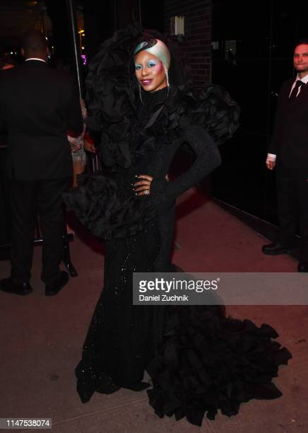 Laverne Cox attends the 2019 Met Gala Boom Boom Afterparty at The Standard hotel on May 06 2019 in New York City
