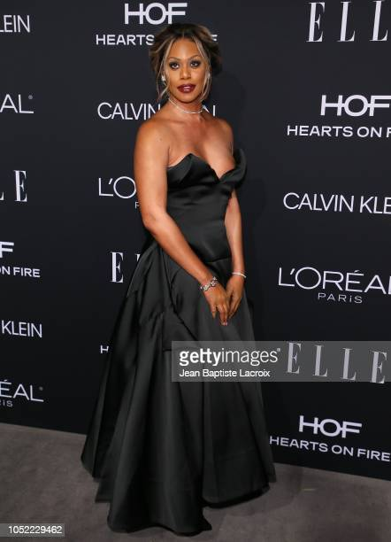 Laverne Cox attends the 25th Annual ELLE Women in Hollywood Celebration at Four Seasons Hotel Los Angeles at Beverly Hills on October 15 2018 in Los...