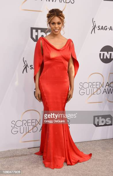 Laverne Cox attends the 25th Annual Screen Actors Guild Awards at The Shrine Auditorium on January 27 2019 in Los Angeles California 480645