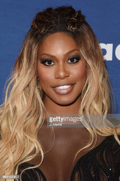 Laverne Cox attends the 29th Annual GLAAD Media Awards at The Hilton Midtown on May 5 2018 in New York City