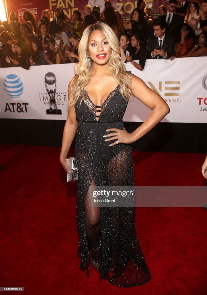 Laverne Cox attends the 49th NAACP Image Awards at Pasadena Civic Auditorium on January 15, 2018 in Pasadena, California.