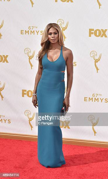 Laverne Cox attends the 67th Annual Primetime Emmy Awards at Microsoft Theater on September 20 2015 in Los Angeles California