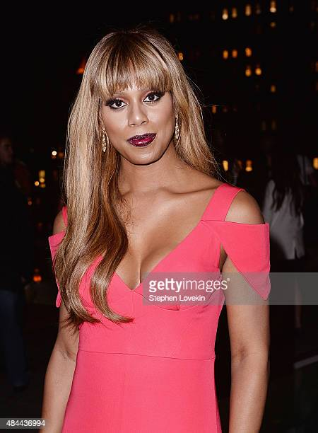 Laverne Cox attends the after party for a screening of Sony Pictures Classics' 'Grandma' hosted by The Cinema Society Kate Spade and Ketel One Vodka...