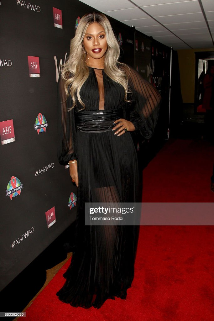 Laverne Cox attends the AHF World AIDS DAY Concert and 30th Anniversary Celebration at the Shrine Auditorium on November 30, 2017 in Los Angeles, California.