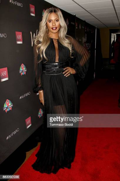 Laverne Cox attends the AHF World AIDS DAY Concert and 30th Anniversary Celebration at the Shrine Auditorium on November 30 2017 in Los Angeles...