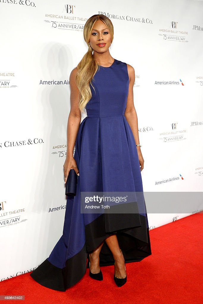 Laverne Cox attends the American Ballet Theatre's 75th Anniversary Gala at David H. Koch Theater, Lincoln Center on October 21, 2015 in New York City.