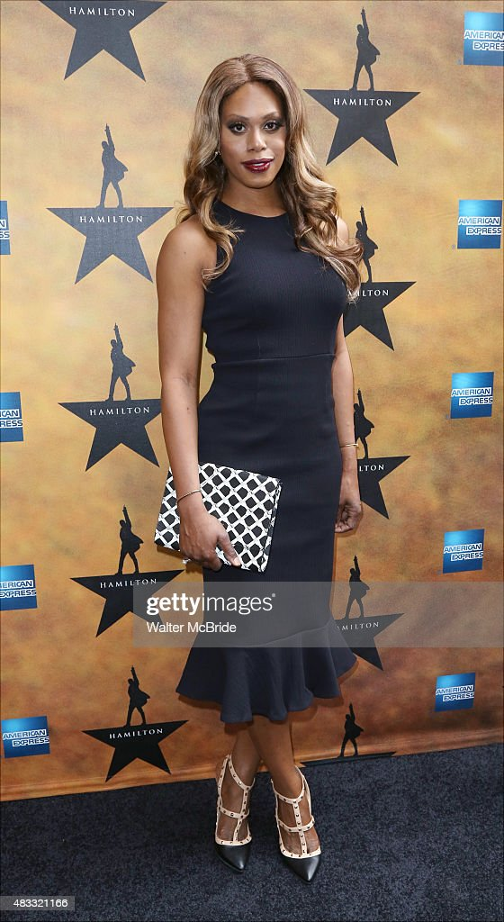 Laverne Cox attends the Broadway Opening Night Performance of 'Hamilton' at the Richard Rodgers Theatre on August 6, 2015 in New York City.