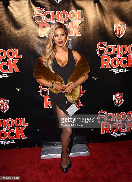 Laverne Cox attends the Broadway opening night performance of 'School of Rock' at the Winter Garden Theatre on December 6 2015 in New York City