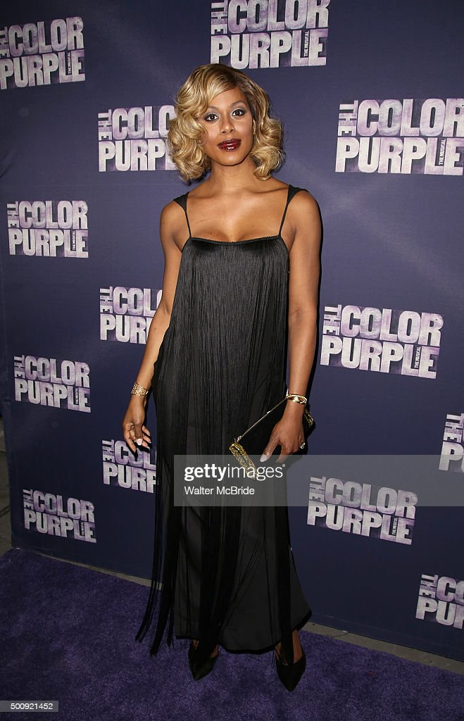 Laverne Cox attends the Broadway Opening Night Performance of 'The Color Purple' at the Bernard B. Jacobs Theatre on December 10, 2015 in New York City.