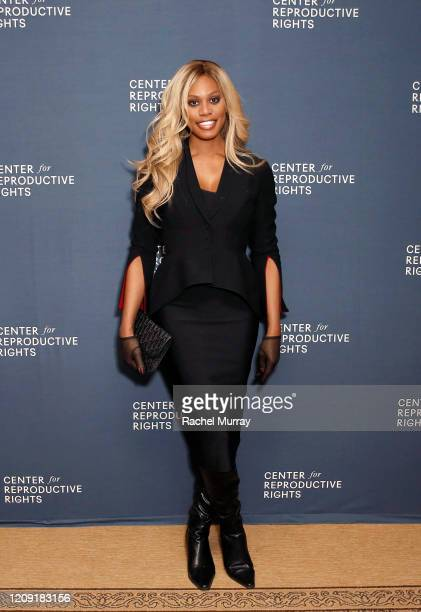 Laverne Cox attends The Center for Reproductive Rights 2020 Los Angeles Benefit on February 27 2020 in Beverly Hills California