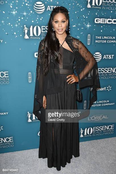 Laverne Cox attends the Essence 10th Annual Black Women In Hollywood Awards Gala at the Beverly Wilshire Four Seasons Hotel on February 23 2017 in...