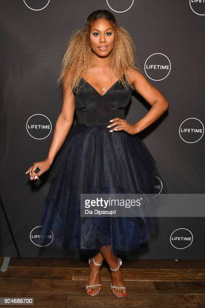 Laverne Cox attends the exclusive premiere event for Lifetime's new show 'Glam Masters' with the cast and executive producer at Dirty French In New...