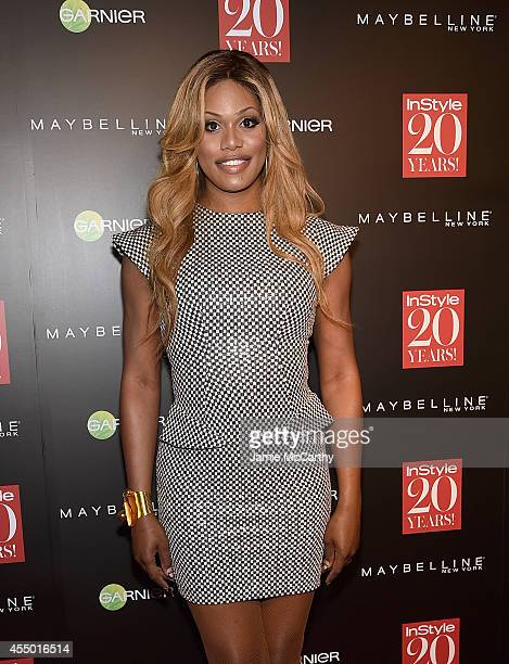 Laverne Cox attends the Instyle 20th Anniversary Party at Diamond Horseshoe at the Paramount Hotel on September 8 2014 in New York City