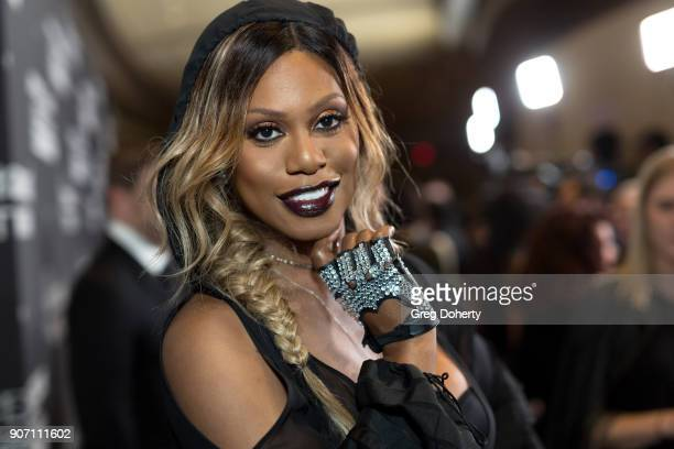 Laverne Cox attends the Lip Sync Battle LIVE A Michael Jackson Celebration at Dolby Theatre on January 18 2018 in Hollywood California