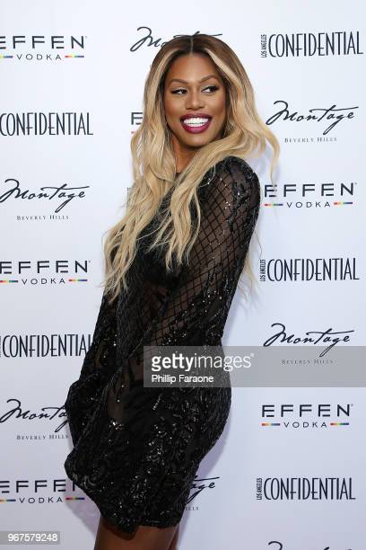Laverne Cox attends the Los Angeles Confidential Celebration for Portraits of Pride with GLAAD and Laverne Cox on June 4 2018 in Beverly Hills...