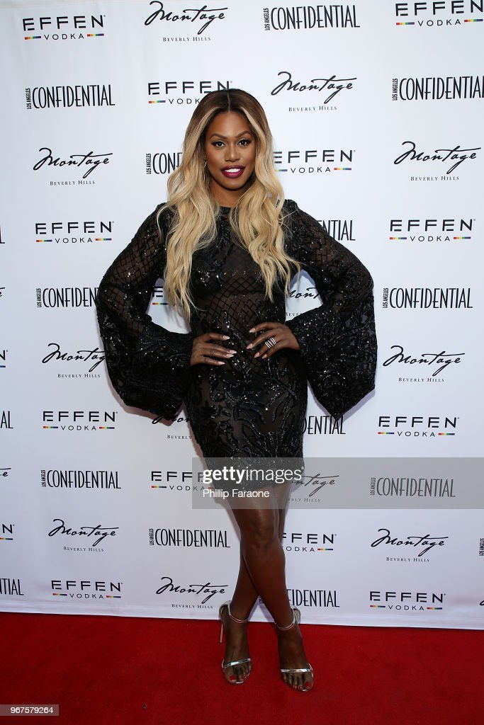 Laverne Cox attends the Los Angeles Confidential Celebration for Portraits of Pride with GLAAD and Laverne Cox on June 4, 2018 in Beverly Hills, California.
