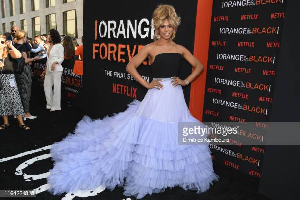 Laverne Cox attends the Orange Is The New Black Final Season World Premiere at Alice Tully Hall Lincoln Center on July 25 2019 in New York City