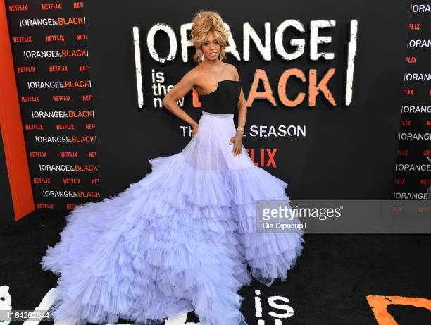 Laverne Cox attends the Orange is the New Black Season 7, World Premiere Screening and Afterparty 2019 on July 25, 2019 in New York City.