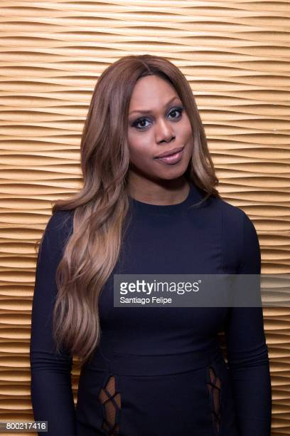 Laverne Cox attends the 'RuPaul's Drag Race' Season 9 Finale Viewing Party at Stage 48 on June 23 2017 in New York City