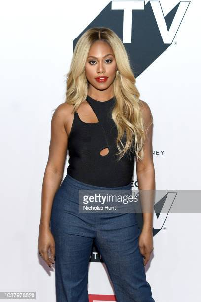 Laverne Cox attends Tribeca Talks with Rosario Dawson Laverne Cox during the 2018 Tribeca TV Festival at Spring Studios on September 22 2018 in New...